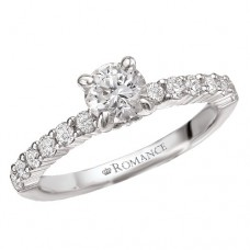 #WC118003 14k White Gold, Round Brilliant, Semi-Mount Engagement Ring