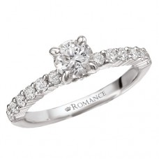 #WC118004 14k White Gold, Round Brilliant, Semi-Mount Engagement Ring