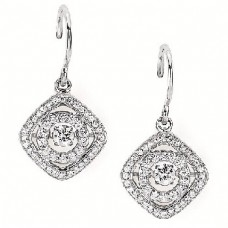 #SD13E28-.50. Dancing Diamonds Earrings 1/2ctw