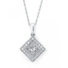 #SD13P23.50 Dancing Diamonds Pendant in 14K White Gold - 1/2 ctw