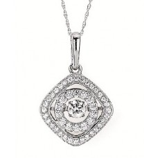 #SD13P28-.50 Dancing Diamonds Pendant 1/2ctw