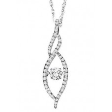 #WROL1001 Dancing Diamonds Pendant in 14K White Gold - 3/8 ctw