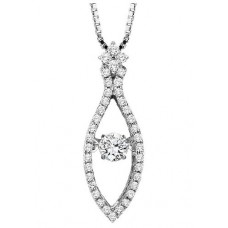 #WROL1002 Dancing Diamonds Pendant in 14K White Gold - 1/2 ctw