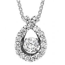 #WROL1003 Dancing Diamonds Pendant in 14K White Gold - 1/2 ctw