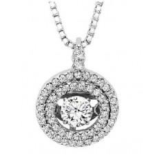 #WROL1004 Dancing Diamonds Pendant in 14K White Gold - 3/8 ctw