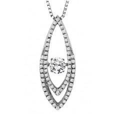 #WROL1005 Dancing Diamonds Pendant in 14K White Gold - 5/8ctw
