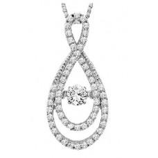 #WROL1011 Dancing Diamonds Pendant 14K White Gold - 5/8 ctw