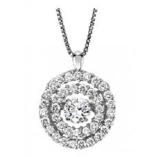 #WROL1013 Dancing Diamonds Pendant in 14K White Gold - 3/8 ctw