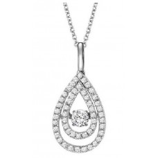 #WROL1017 Dancing Diamonds Pendant in 14K White Gold - 3/8ctw